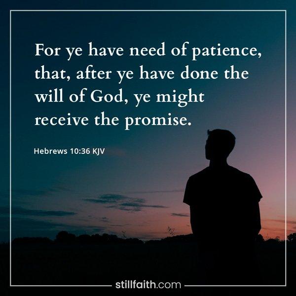 Hebrews 10:36 KJV Image
