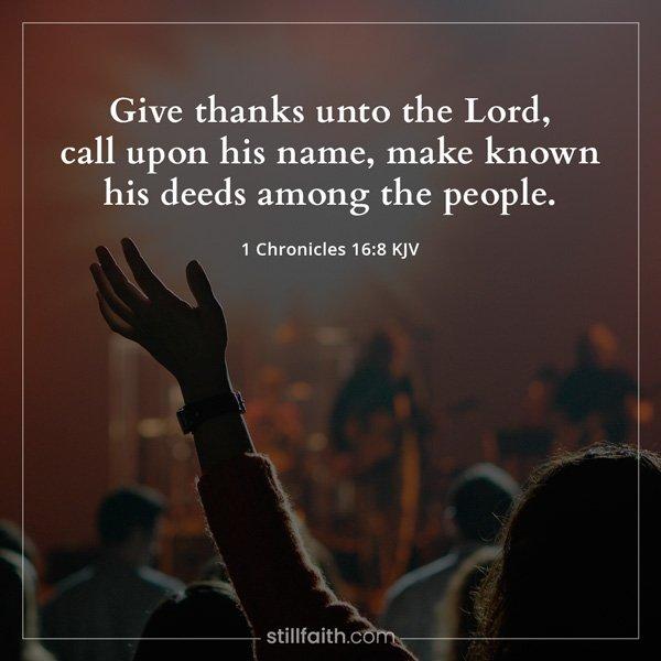 1 Chronicles 16:8 KJV Image