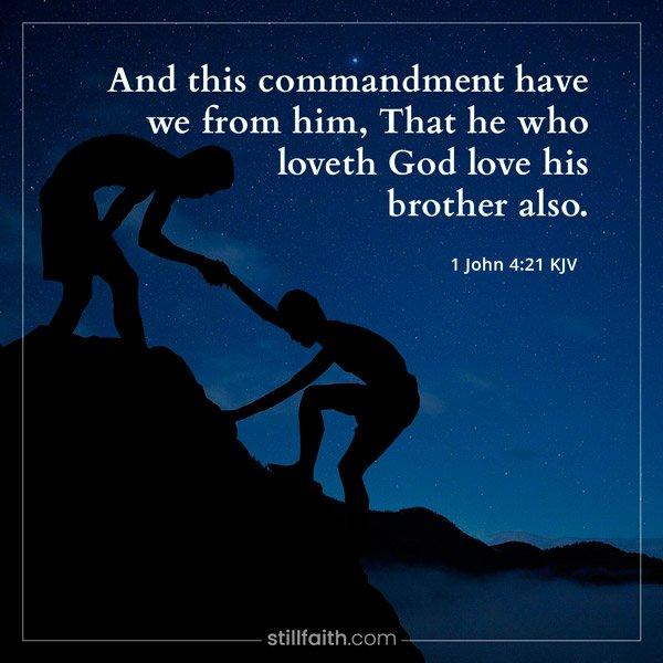 1 John 4:21 KJV Image