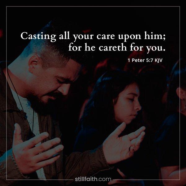 1 Peter 5:7 KJV Image