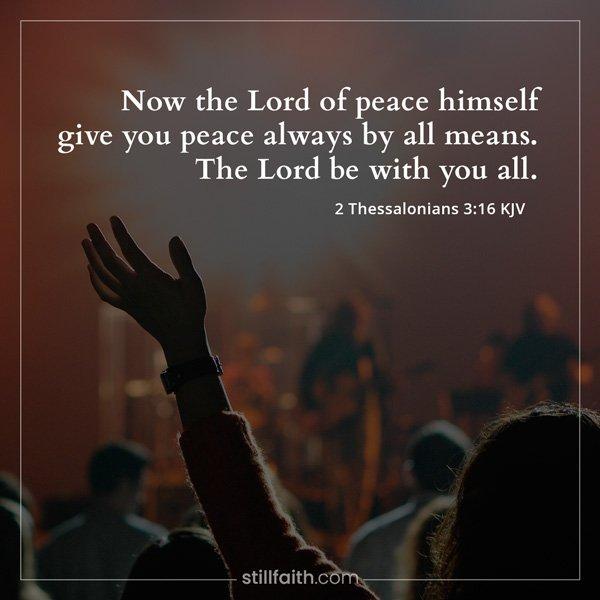 2 Thessalonians 3:16 KJV