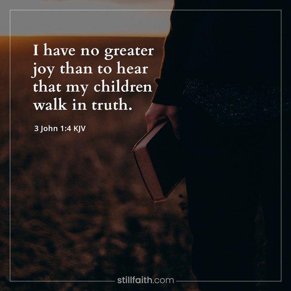 3 John 1:4 KJV Image