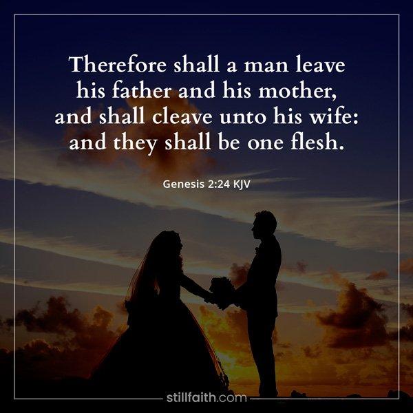 Genesis 2:24 KJV Image