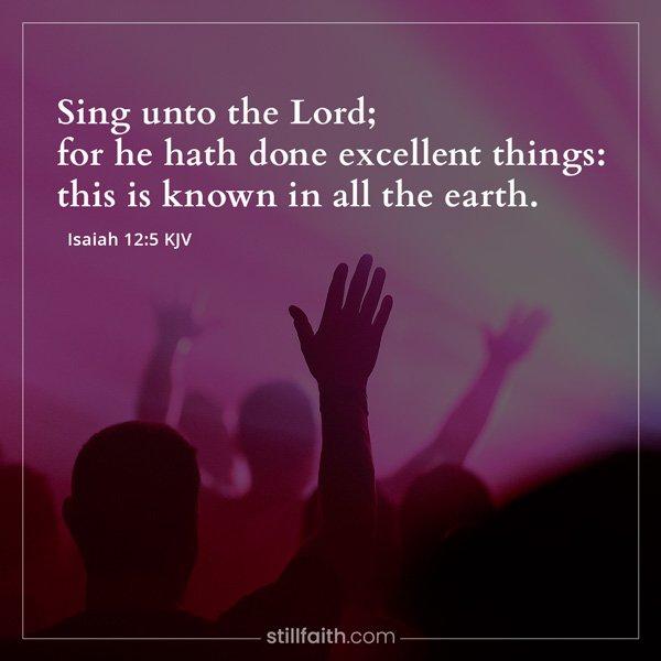 Isaiah 12:5 KJV Image
