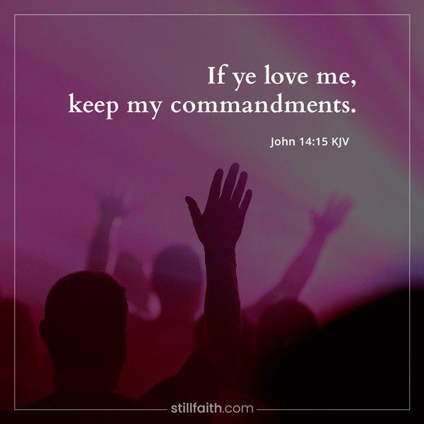 John 14:15 KJV Image