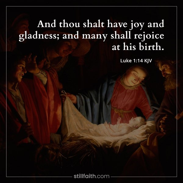 Luke 1:14 KJV Image