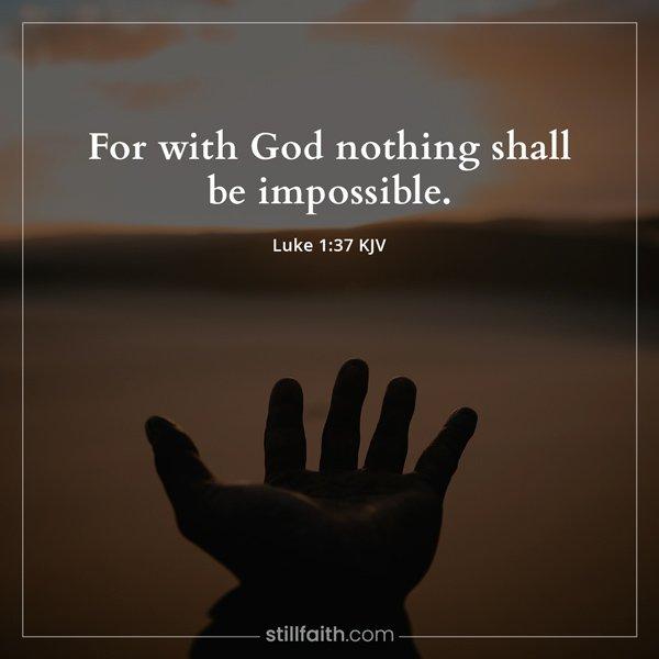 Luke 1:37 KJV