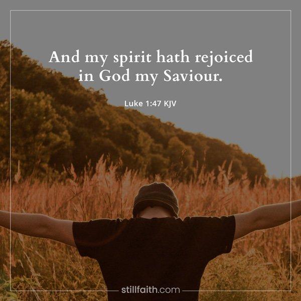 Luke 1:47 KJV Image