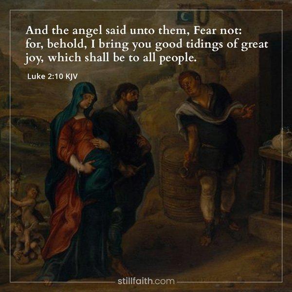 Luke 2:10 KJV Image
