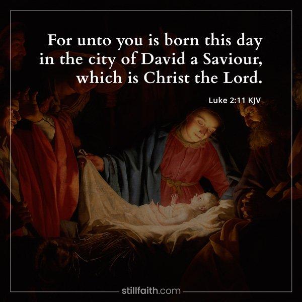 Luke 2:11 KJV Image