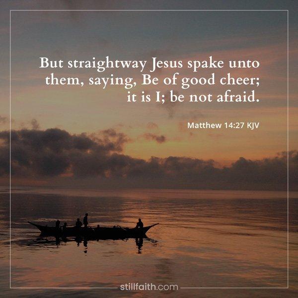 Matthew 14:27 KJV Image