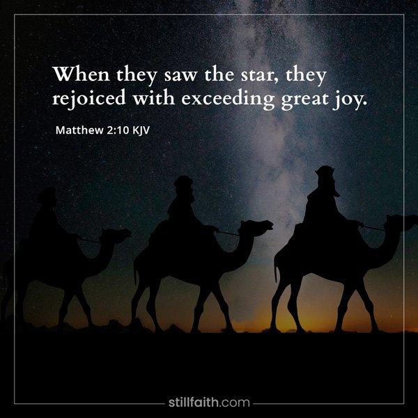 Matthew 2:10 KJV Image