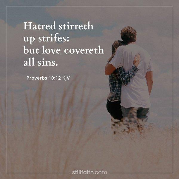 Proverbs 10:12 KJV Image