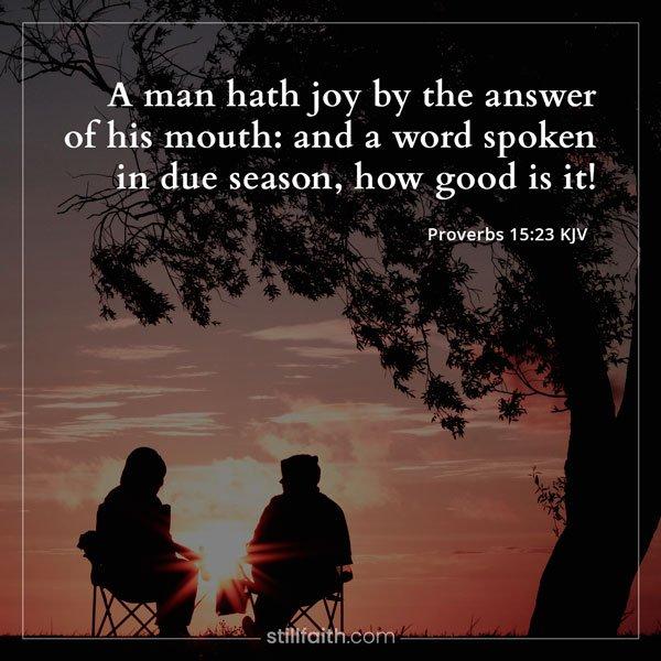 Proverbs 15:23 KJV Image