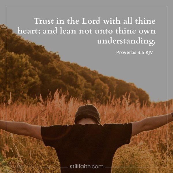 Proverbs 3:5 KJV Image