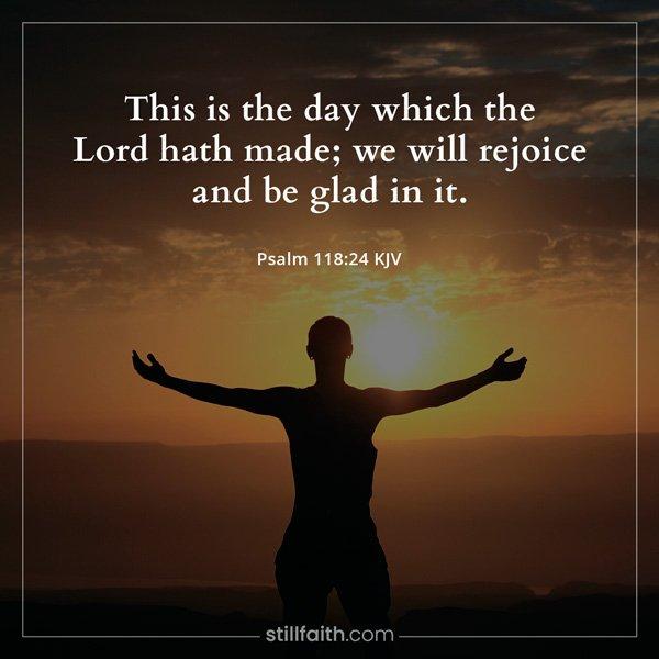 Psalm 118:24 KJV Image
