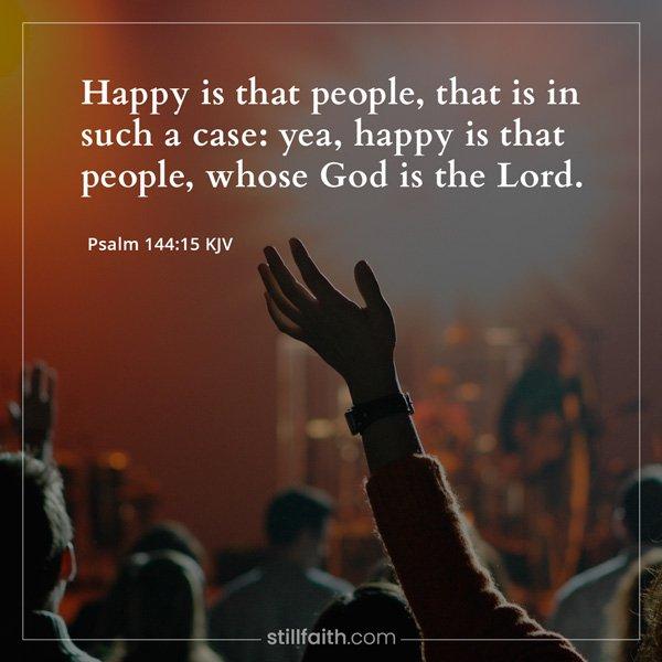 Psalm 144:15 KJV Image