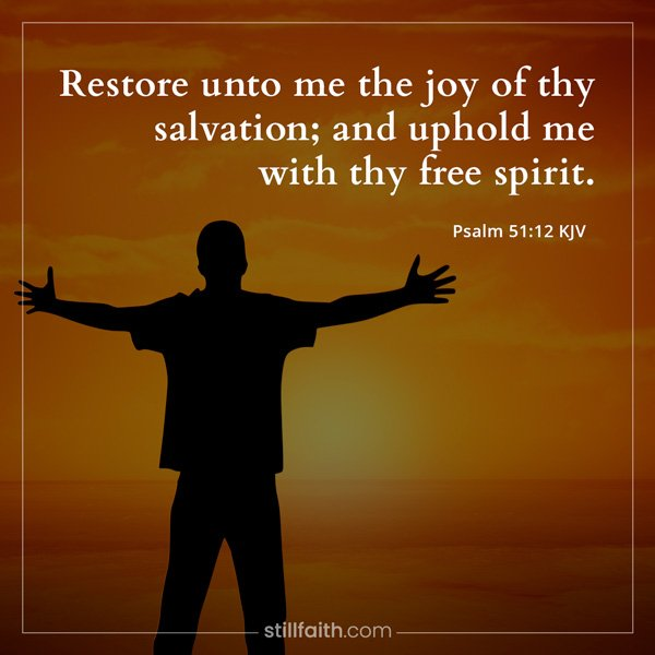 Psalm 51:12 KJV Image
