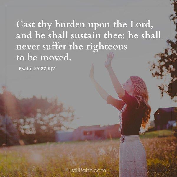 Psalm 55:22 KJV Image