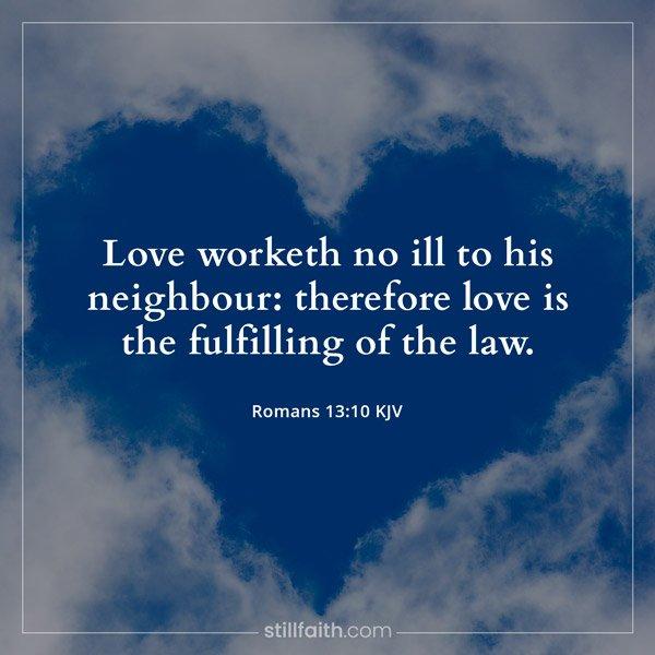 Romans 13:10 KJV Image