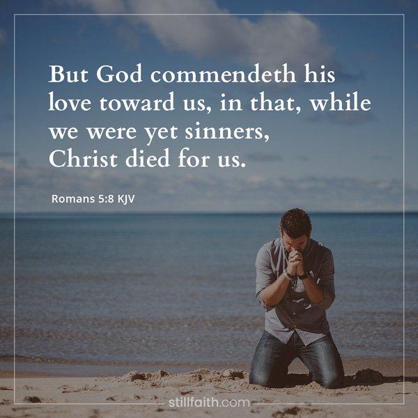 Romans 5:8 KJV Image
