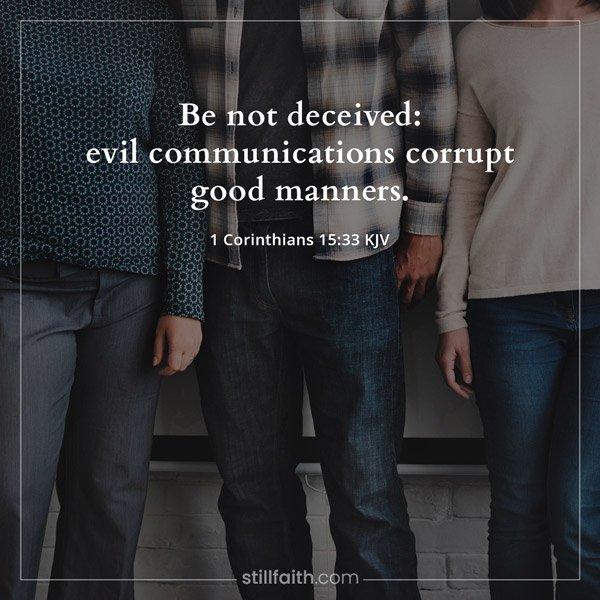 1 Corinthians 15:33 KJV Image