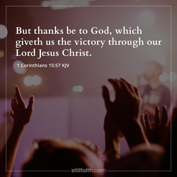 1 Corinthians 15:57 KJV Image
