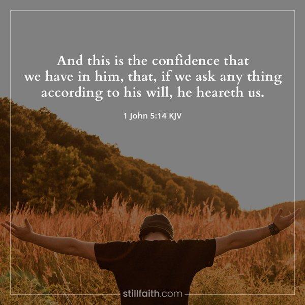 1 John 5:14 KJV Image