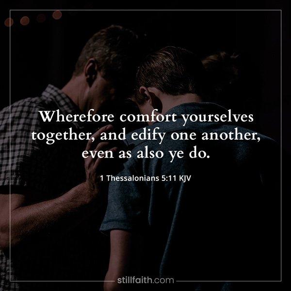 1 Thessalonians 5:11 KJV Image