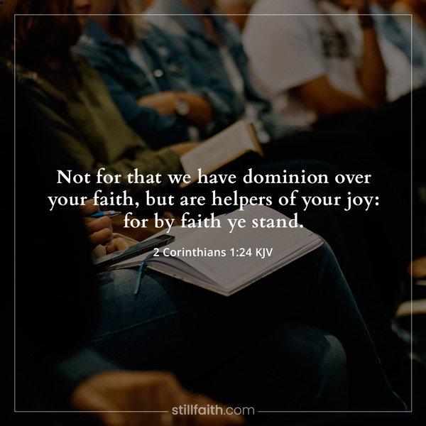 2 Corinthians 1:24 KJV Image