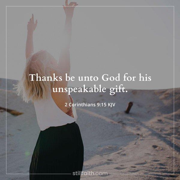 2 Corinthians 9:15 KJV Image