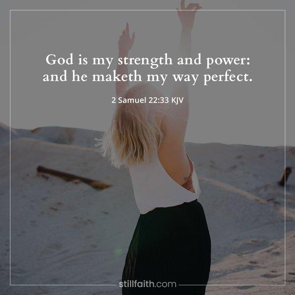 2 Samuel 22:33 KJV Image