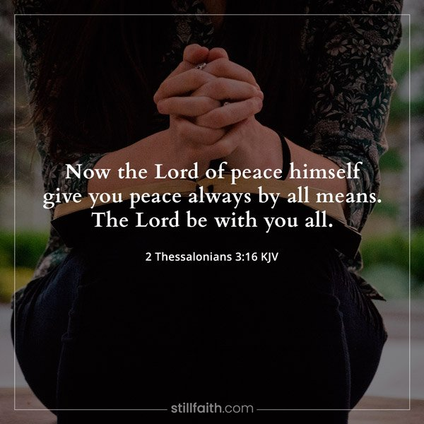 2 Thessalonians 3:16 KJV Image