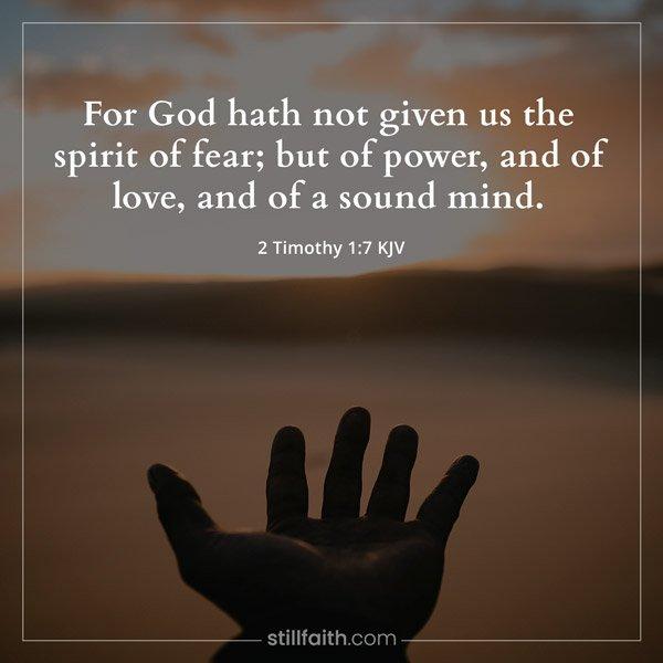 2 Timothy 1:7 KJV