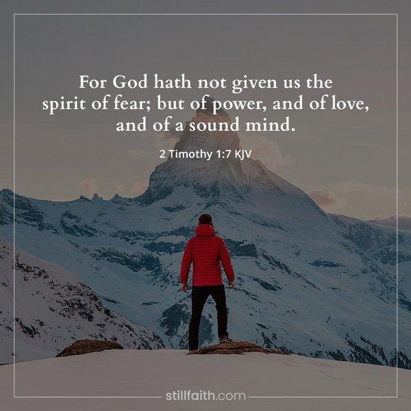 2 Timothy 1:7 KJV Image