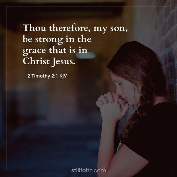 2 Timothy 2:1 KJV Image