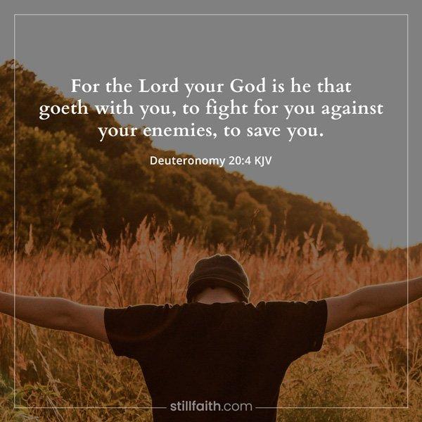 Deuteronomy 20:4 KJV Image
