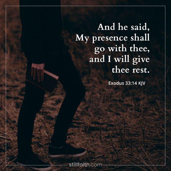 Exodus 33:14 KJV Image