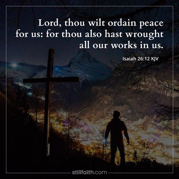 Isaiah 26:12 KJV Image