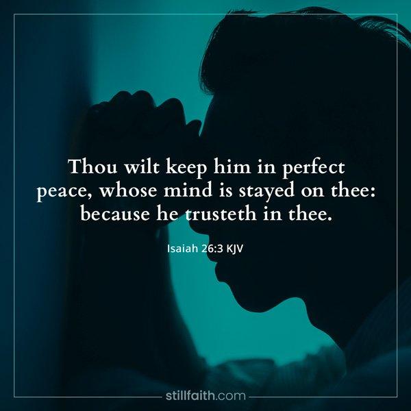 Isaiah 26:3 KJV Image