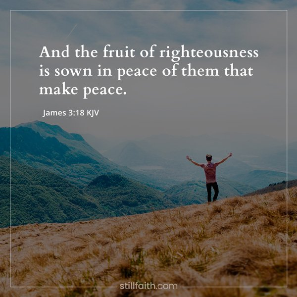James 3:18 KJV Image