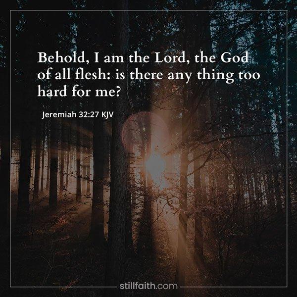 Jeremiah 32:27 KJV Image