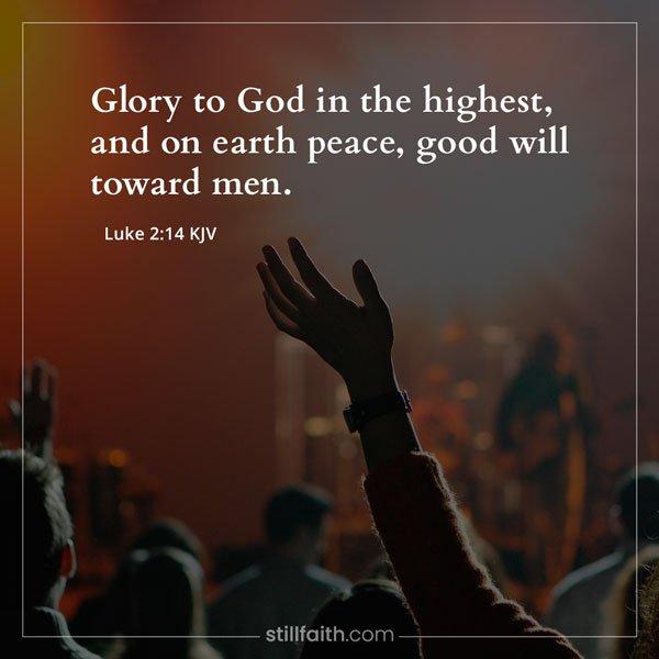 Luke 2:14 KJV Image