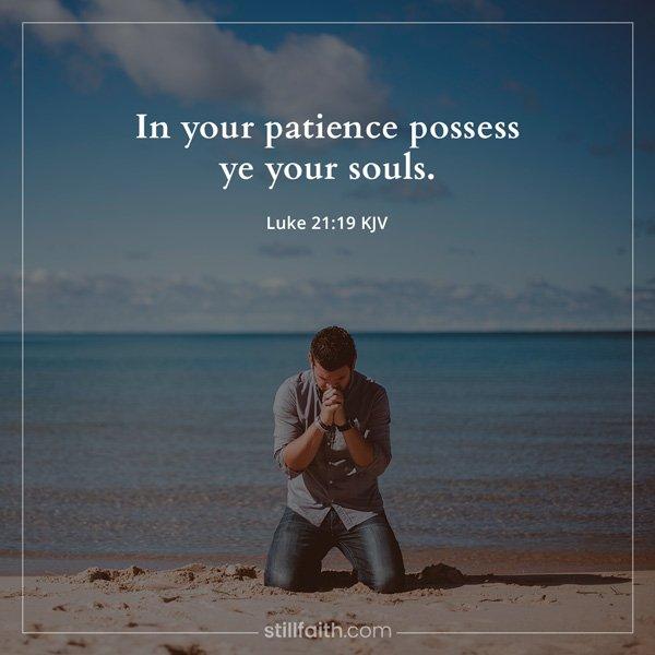 Luke 21:19 KJV Image