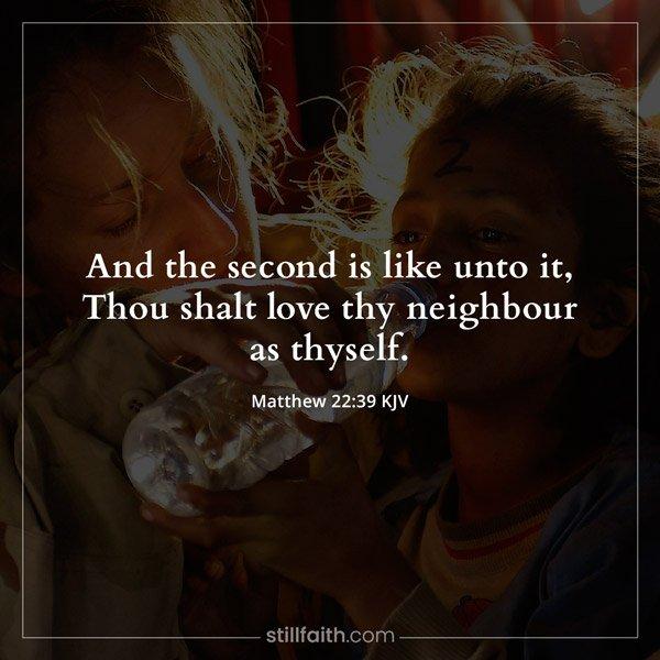 Matthew 22:39 KJV