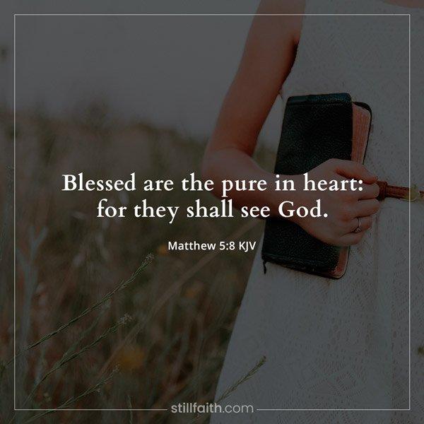 Matthew 5:8 KJV Image