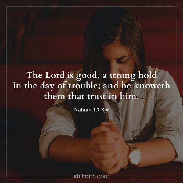 Nahum 1:7 KJV Image