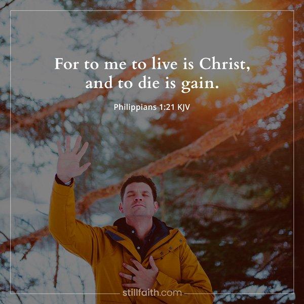 Philippians 1:21 KJV Image