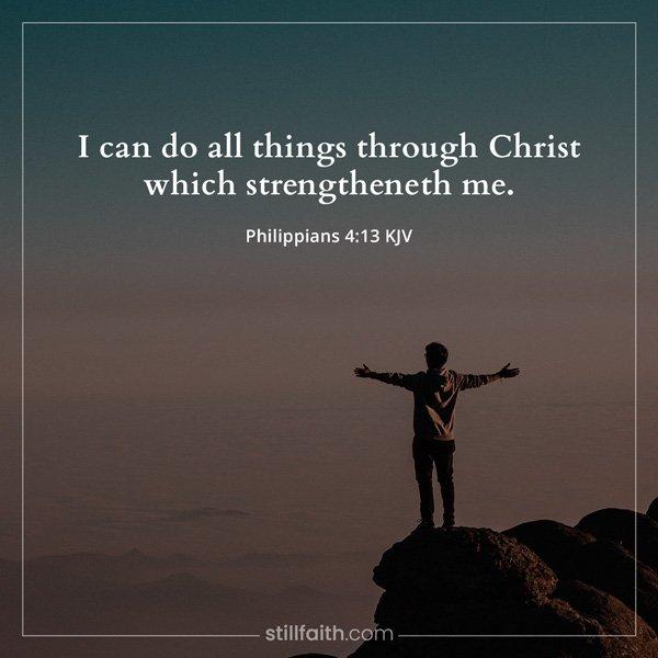 Philippians 4:13 KJV Image