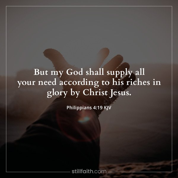 Philippians 4:19 KJV Image